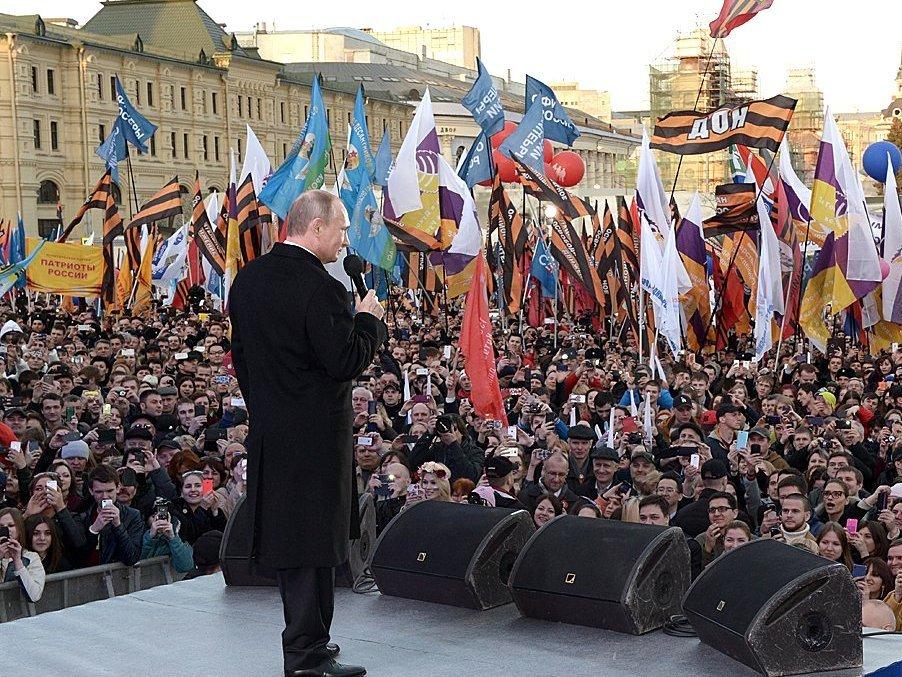 Путин пропустит празднества послучаю присоединения Крыма