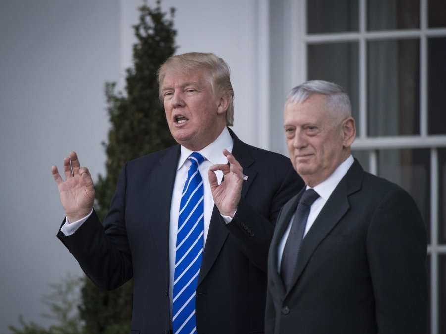 Руководитель Пентагона одобрил кандидатуру Мэттиса напост министра обороны