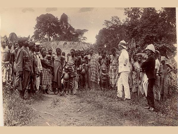 Первая встреча британских офицеров с представителями народности собо (урхобо), Южная Нигерия, конец XIX в.