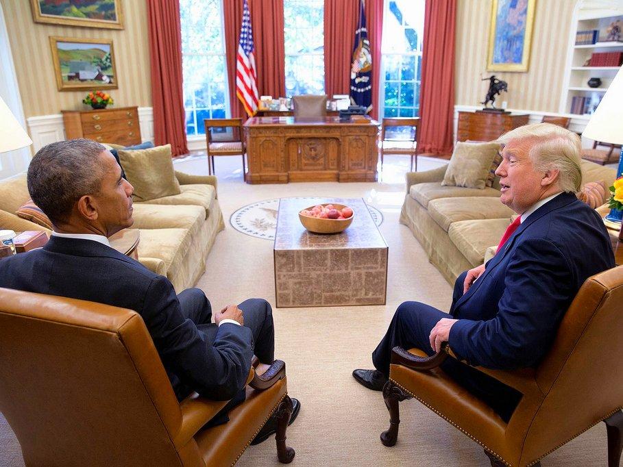 Обама пригласит Трампа начай перед инаугурацией