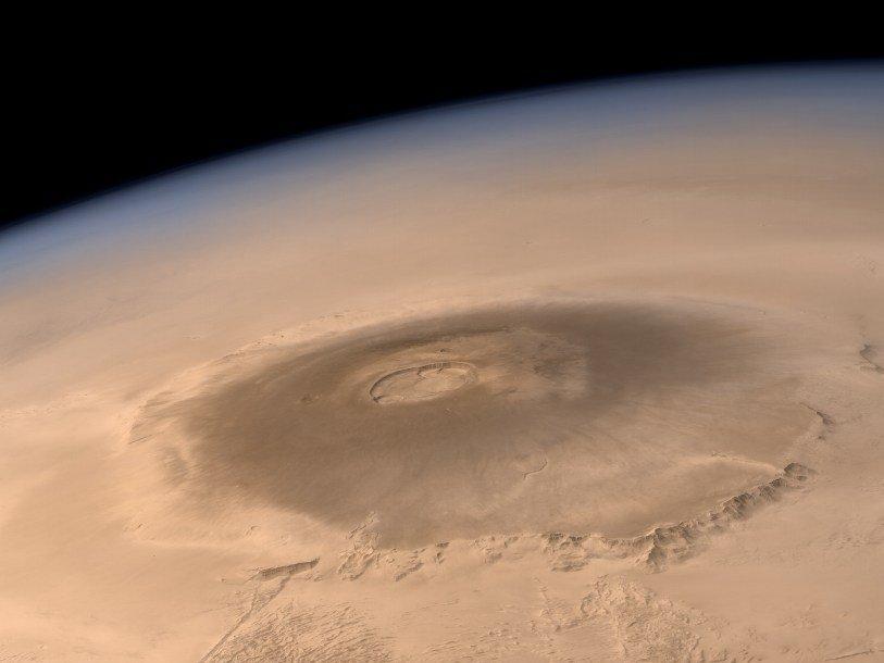НаМарсе обнаружили древнейший вулкан