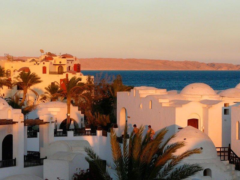 Египет. Гостиничный комплекс на берегу моря