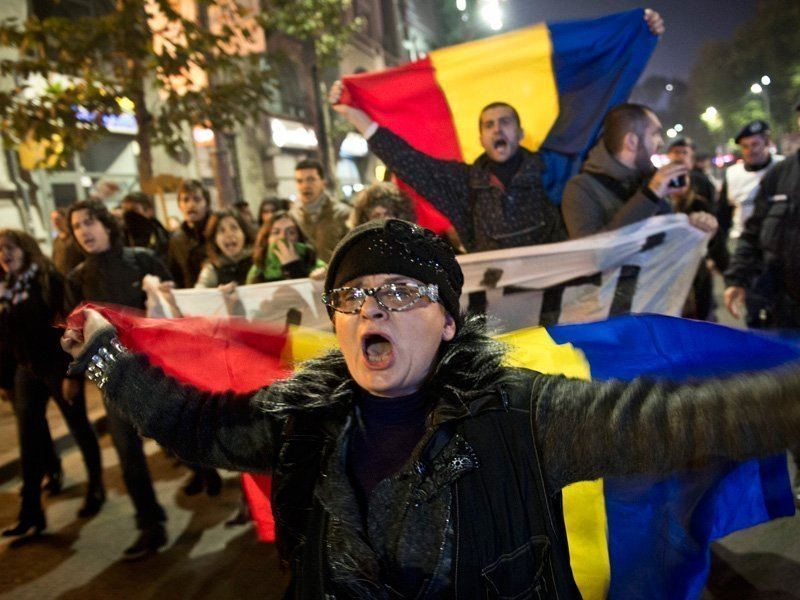 Зачем протестуют румыны