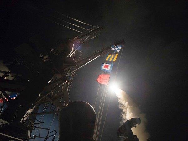 Размещено видео сместа удара США вСирии