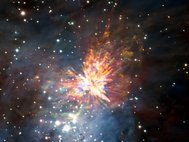ALMA views a stellar explosion in Orion