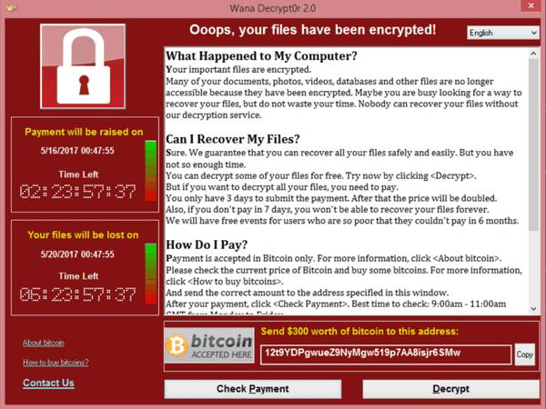 Вред отатаки вируса WannaCry превысил млрд долларов