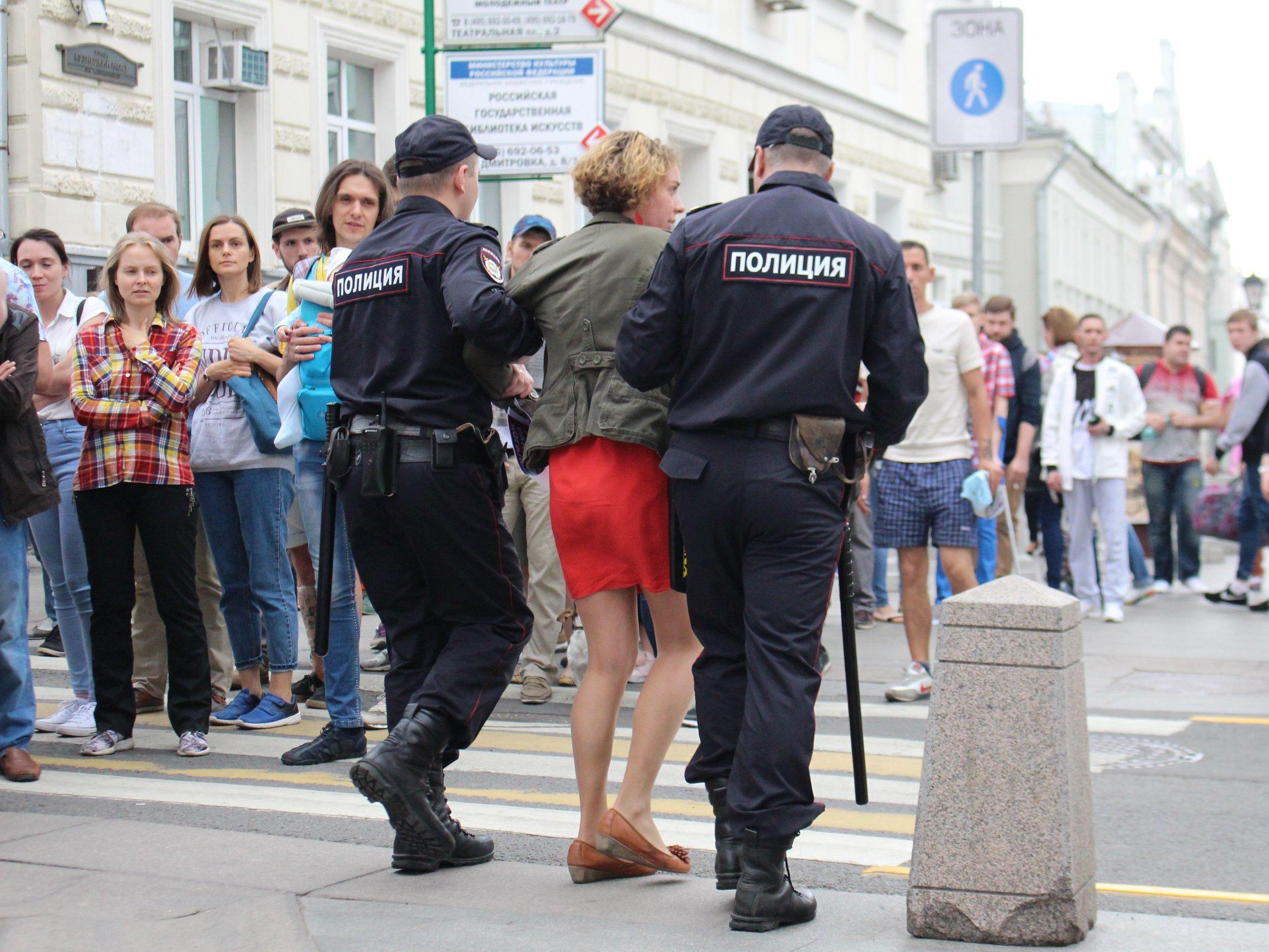Неменее 150 человек задержаны вцентральной части Москвы заучастие внесанкционированной акции