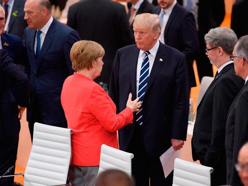 Меркель иТрампа обеспокоили заявления В. Путина оразработке новых видов вооружений