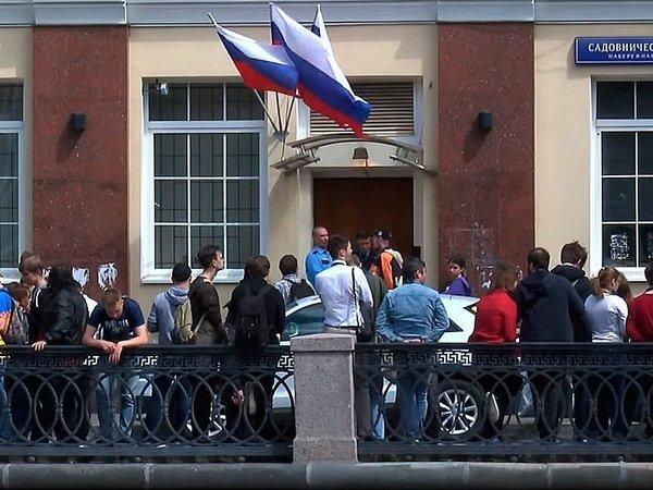 Журналисты у штаба А.Навального в Москве