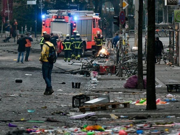 Впроцессе беспорядков вГамбурге пострадали около двухсот полицейских