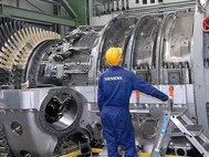 Турбина на заводе Siemens