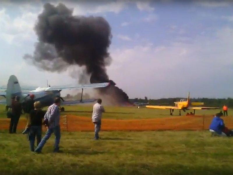 Крушение Ан-2 вБалашихе: самолет разбился вовремя показательных выступлений