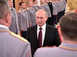 В.Путин на церемонии представления офицеров, назначенных на высшие командные должности