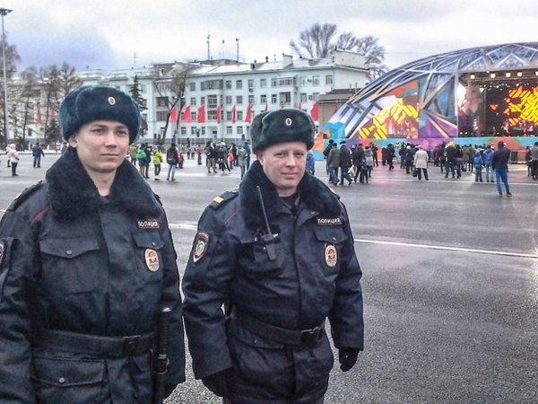 Полицейские на Дне народного единствва