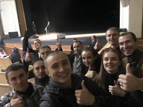 Активисты сорвавшие выступление Константина Райкина в Одессе