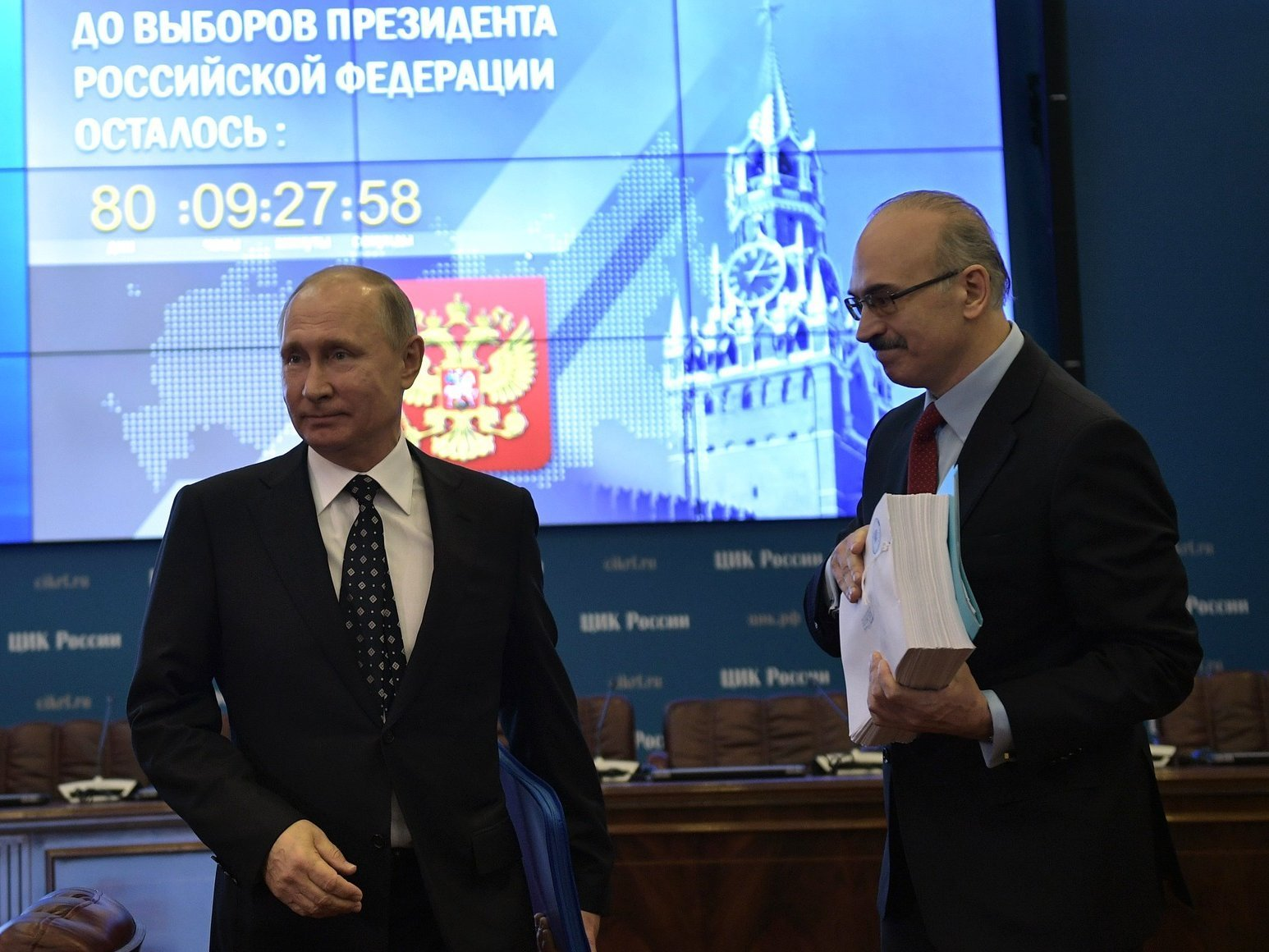 Верховный суд получил еще две жалобы нарегистрацию В. Путина кандидатом впрезиденты