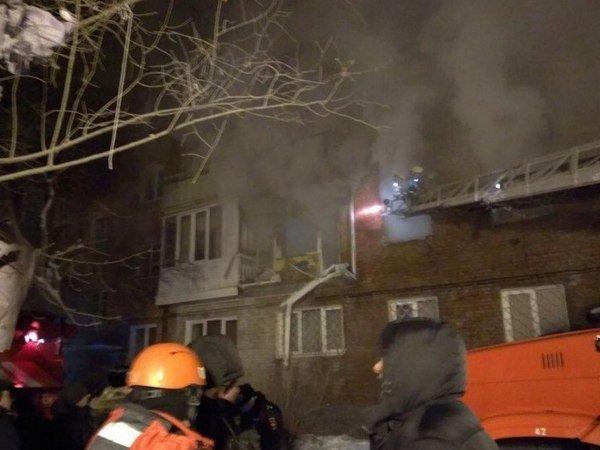 Взрыв газа в Омске 12 января 2018 года
