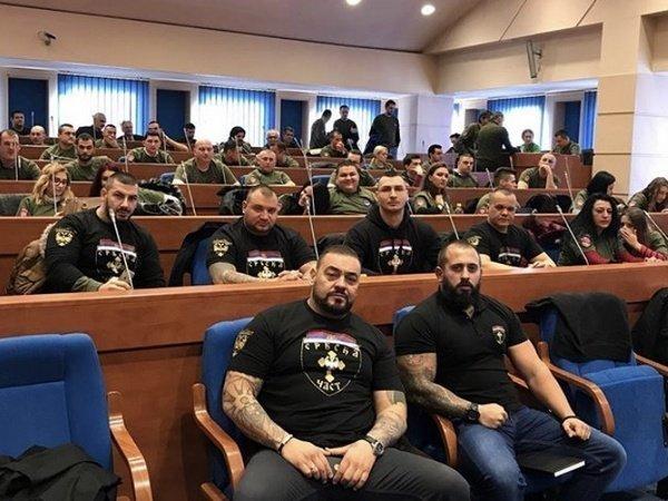 Участники объединения «Сербская честь»