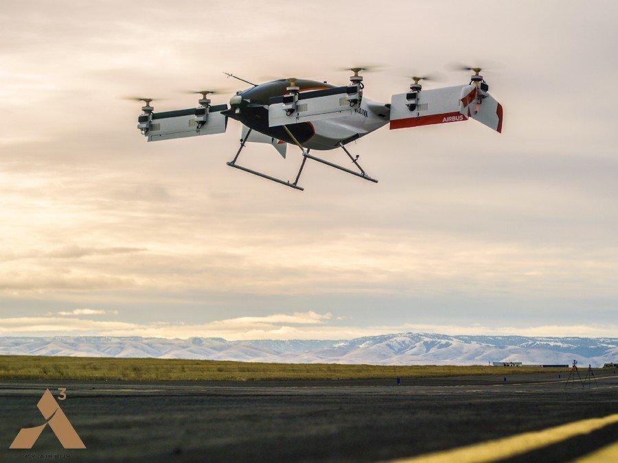Airbus Vahana: первое беспилотное аэротакси совершило успешный полет