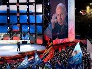 Владимир Путин на Манежной площади