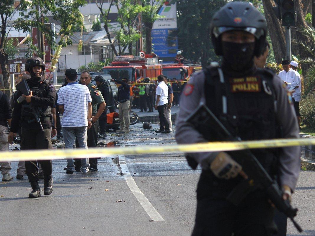 Виндонезийском городе Сурабая снова произошел взрыв