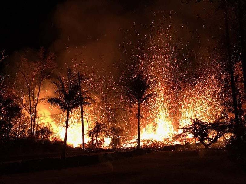 Извержение гавайского вулкана Килауэа