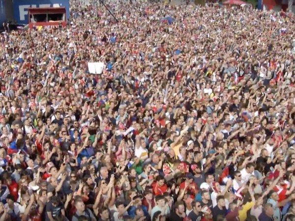 Картинки по запросу Свыше 24 тысяч болельщиков поблагодарили сборную России по футболу в фан-зоне в Москве