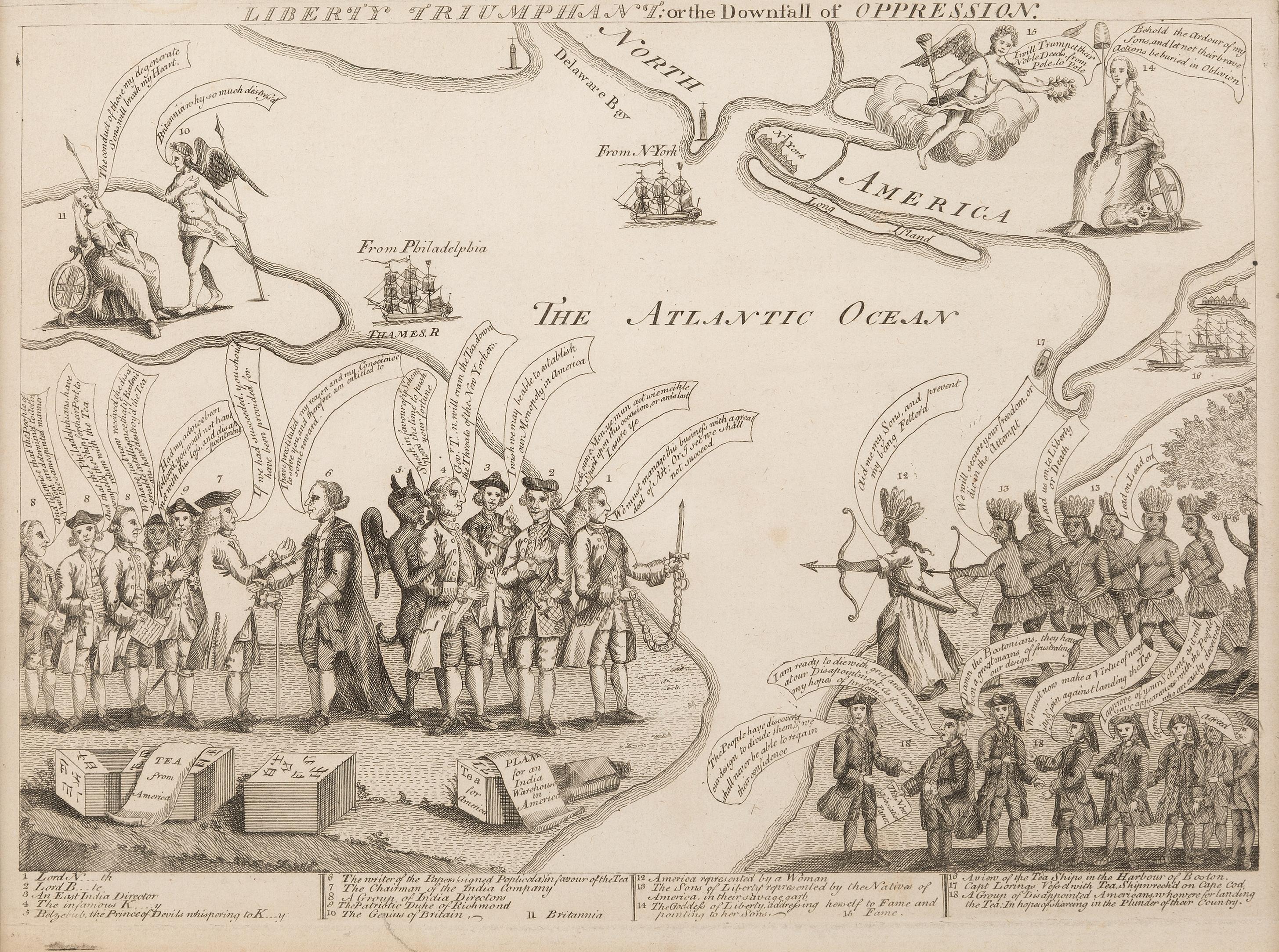 Редкая карикатура времен XVIII века выставлена на аукцион