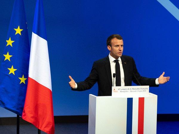 Макрон обвинил Путина в намерении демонтировать ЕС
