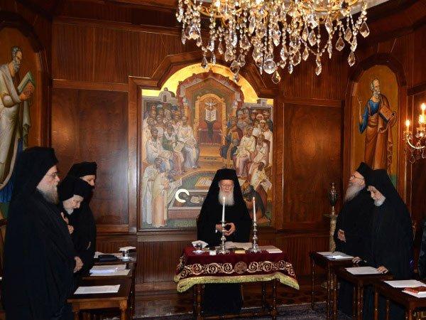 Заседание священного Синода в Константинополе