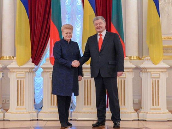 Президенты Украины и Литвы