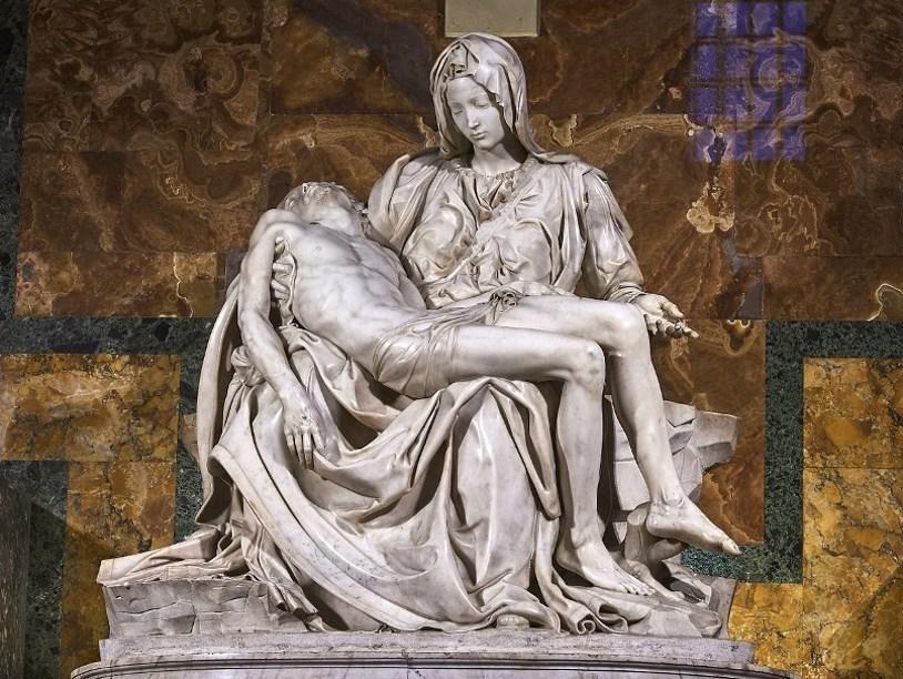 Терракотовая пьета Микеланджело