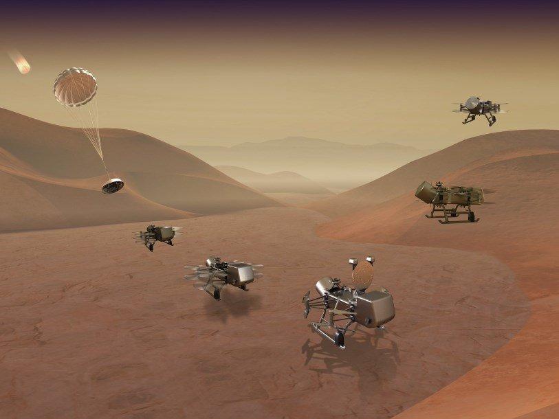 «Стрекоза» будет летать над поверхностью Титана