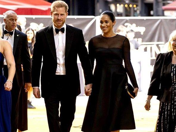 Меган Маркл ипринц Гарри посетили премьеру мультфильма «Король Лев»