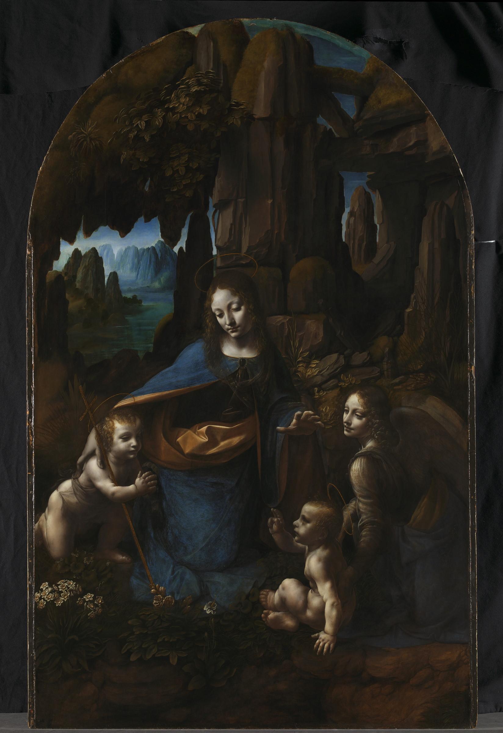 Под слоем живописи «Мадонны в скалах» рассмотрели первоначальные наброски Леонардо да Винчи