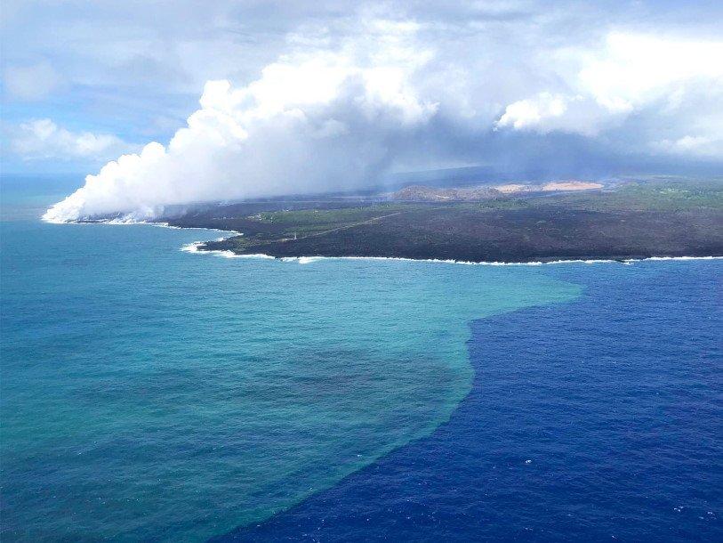 Извержение вулкана на Гавайях привело к росту численности фитопланктона в окрестных водах