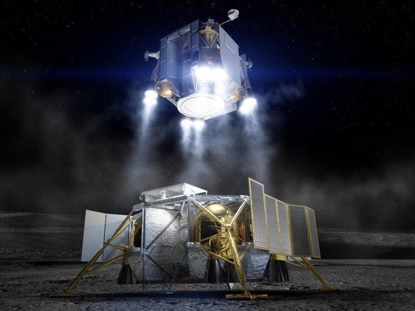 Концепт-арт лунного модуля «Боинга»