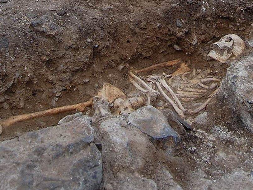 Один из обнаруженных в Сан-Мигель-де-Эреносар скелетов